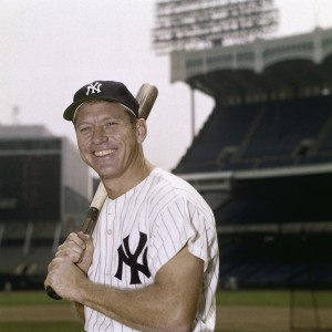Mickey Mantle poses for a portrait at Yankee Stadium in 1960