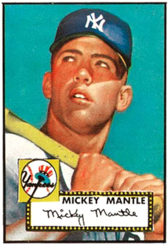 Mickey Mantle 1952 Topps Rookie Card
